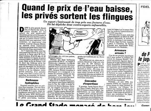 L'Affaire Jacques Michel, Le Canard Enchaïné, 1994.